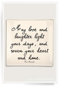 May Love And Laughter Light Decoupage Glass 6X6 Tray
