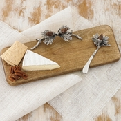 Mud Pie Acorn Wood Cutting Board Set