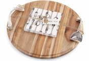 Mud Pie Round Cutting Board Set