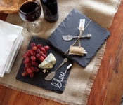 Mud Pie Slate Board Set