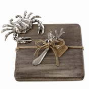 Mud Pie Small Crab Cutting  Board Set