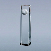 Optic Obelisk Glass Golf Ball Clock