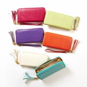 Pastel Croc Zipper Wallet (6 Colors)