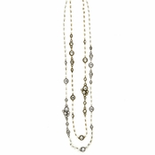 Pearl And Gemstone Necklace (2 Colors)