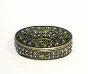 Regency Oval Box Green - Closeout Final Sale