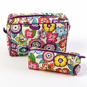 Rio Set Of 2 Floral Cosmetic Bags