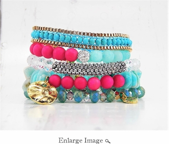 Erimish Bracelet Set Strawberry Bracelet Stack
