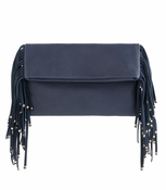 Tori Fringe Clutch Blue - CLOSEOUT