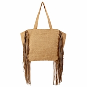 Tote Bag With Suede Fringe