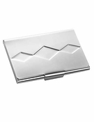 Vera Wang Wedgwood Peplum Silver Plate Business Card Holder