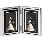 Vera Wang Wedgwood With Love Noir 2x3 Folding Frame