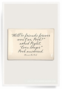 We'll Be Friends Forever Decoupage Glass 4x6 Tray