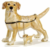 Yellow Lab Box W/ Necklace