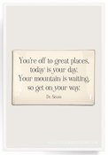 You're Off To Great Places Decoupage Glass 4x6 Tray