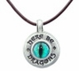 Pewter Dragon Eye Compass Pendant Necklace