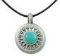 Pewter Turquoise Stone Compass Necklace