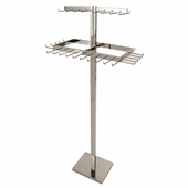 2-Tier Adjustable Rectangular Belt and Tie Rack