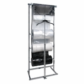 3 Roll Polyethylene Bag Dispensing Rack