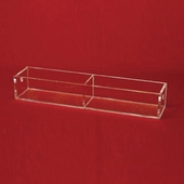 Acrylic 11-7/8in. Compartments Wide Tray