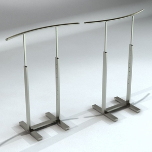 Bauhaus Series Single Bar Merchandiser with C-shaped Hangrail