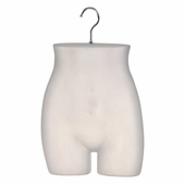 Ladies' Hip Half Round Plastic Body Form Clear Frosted