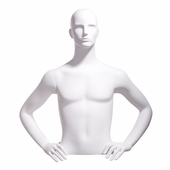Male Bust Form, Abstract Head, Hands on Hip