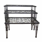 PGM Nesting Metal Table Set of 3