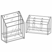 Quick Ship Acrylic 3 Tier 8-1/2in.x 11in. Brochure Holders