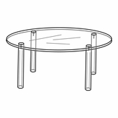 Quick Ship Acrylic 8in. Round Table Display