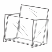 Quick Ship Acrylic CD Rack