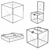 Quick Ship Acrylic Cubes and Ballot Boxes