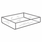 Quick Ship Acrylic Deluxe Display Trays