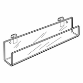 Quick Ship Acrylic Gridwall 11-3/4in.L Card Rack