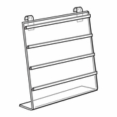 Quick Ship Acrylic Gridwall 2in. Earring Card Display
