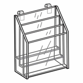 Quick Ship Acrylic Gridwall 3 Tiered Brochure Holder