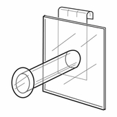 Quick Ship Acrylic Gridwall 4in. Straight Arm Display