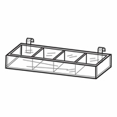 Quick Ship Acrylic Gridwall Divided Trays