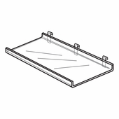 Quick Ship Acrylic Gridwall Shelf With 1in. Lip