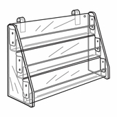 Quick Ship Acrylic Gridwall Tiered Card and Video Rack