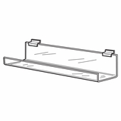 Quick Ship Acrylic Large Slatwall 24in. J-Rack Shelf