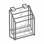 Quick Ship Acrylic Slatwall 3 Tier Brochure Holder