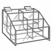 Quick Ship Acrylic Slatwall 3 Tier Hosiery Bin Display
