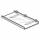 Quick Ship Acrylic Slatwall Braced Shelf With Lip
