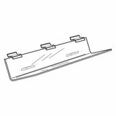 Quick Ship Acrylic Slatwall CD Shelf
