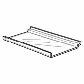Quick Ship Acrylic Slatwall Economy Shelves With Lip