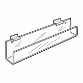 Quick Ship Acrylic Slatwall Long Card Rack