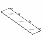 Quick Ship Acrylic Slatwall Maxi Length Shelves