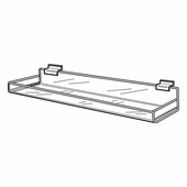 Quick Ship Acrylic Slatwall Shelf 11-3/4in.W