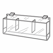 Quick Ship Acrylic Slatwall Triple Pocket Brochure Holder