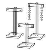 Quick Ship Acrylic T-Bar Earring Stands (Set of 3)
